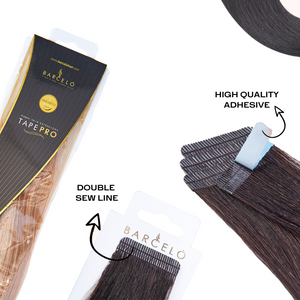 Black  (1B) Tape in Hair Extensions