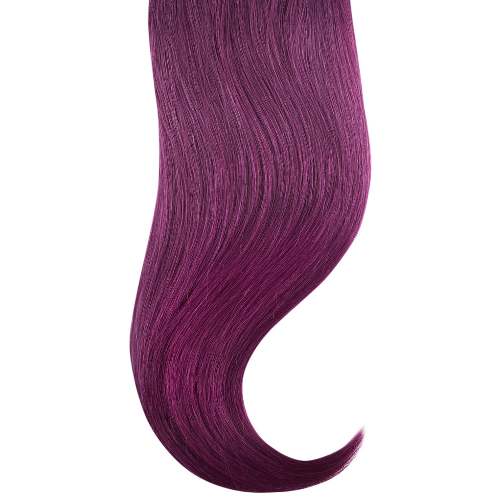 "Tape In Natural Hair Extensions. BARCELÓ Professional Tape-In 18"" -   Tape-In 24"" PURPLE FANTASY HAIR Natural Straight Hair Extensions. USA NEXT WORKING DAY DELIVERY ..."