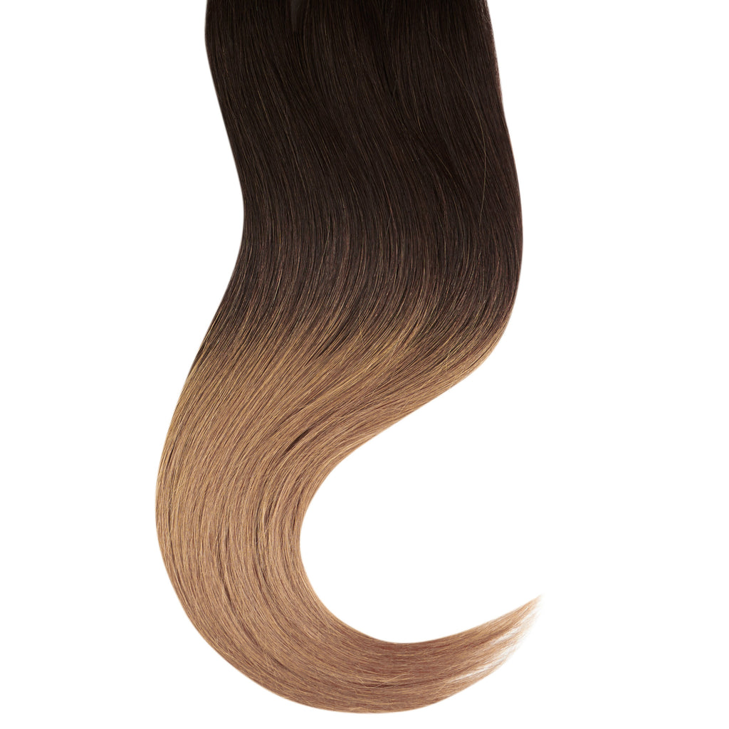 "Tape In Natural Hair Extensions. BARCELÓ Professional Tape-In 18"" -   Tape-In 24"" Honey Dip Ombré (2/14) Natural Straight Hair Extensions. USA NEXT WORKING DAY DELIVERY ..."