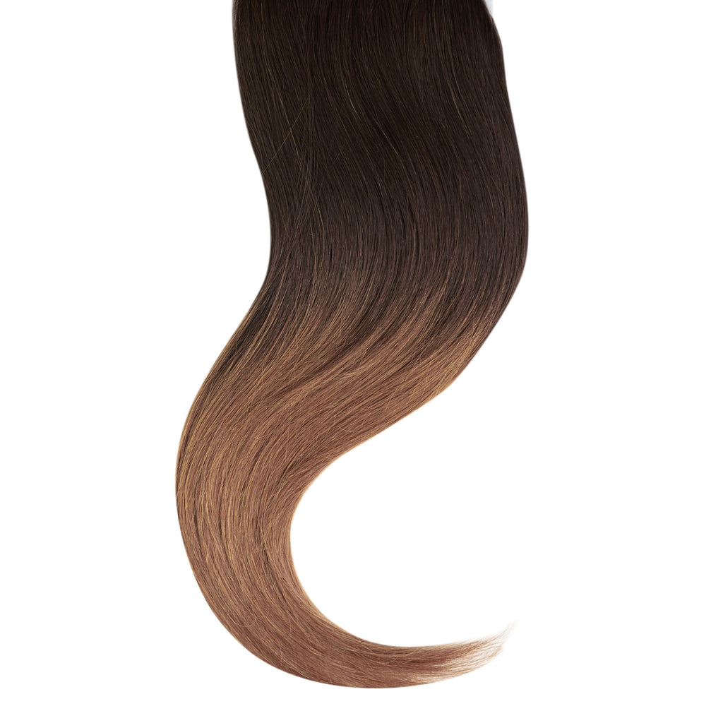 "Tape In Natural Hair Extensions. BARCELÓ Professional Tape-In 18"" -   Tape-In 24"" Chocolate Dip Ombré (2/6)  Straight Hair Extensions. USA NEXT WORKING DAY DELIVERY ..."