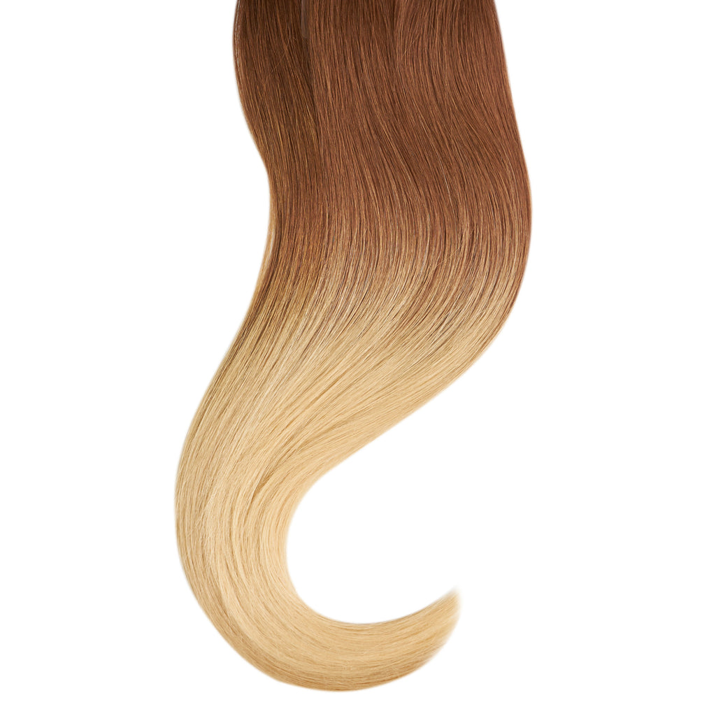 "Tape In Natural Hair Extensions. BARCELÓ Professional Tape-In 18"" -   Tape-In 24"" Dulce de Leche Balayage (4/25) Natural Straight Hair Extensions. USA NEXT WORKING DAY DELIVERY ..."