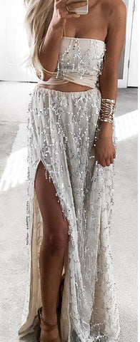 Glam It Up Sequin Maxi Skirt Set