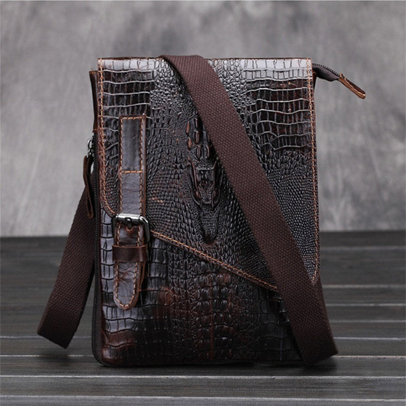 Men Alligator Pattern Messenger Bag - Les Bijouteries Ladies Fashion, Online Fashion, Dresses, Dresses Online, New Trends, Party Dresses, Maxi Dresses, Club Dresses, Office Dresses, Street Style, Girls Dresses, Womens Fashion, Fashion USA, Hot Fashion, Sexy Dresses - 1