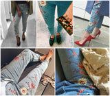 Flower Power Embroidery Jeans - Les Bijouteries Ladies Fashion, Online Fashion, Dresses, Dresses Online, New Trends, Party Dresses, Maxi Dresses, Club Dresses, Office Dresses, Street Style, Girls Dresses, Womens Fashion, Fashion USA, Hot Fashion, Sexy Dresses - 2