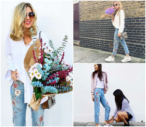 Flower Power Embroidery Jeans