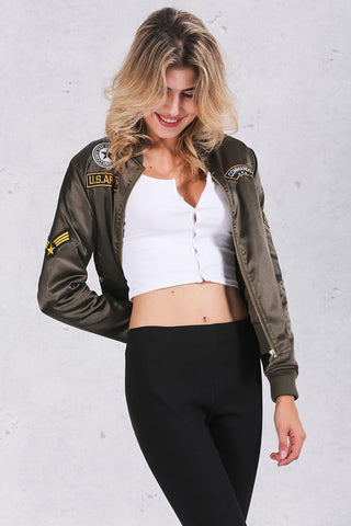 Fly Girl Padded Bomber