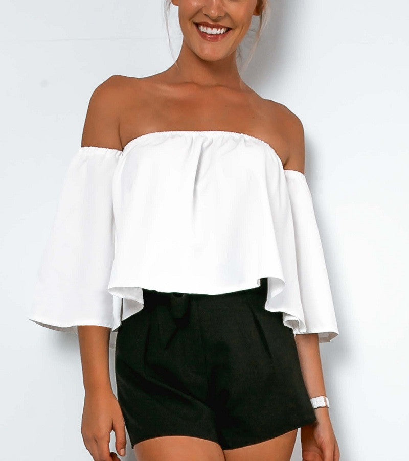 Foxy Vamp Off The Shoulder Tube Blouse - Les Bijouteries