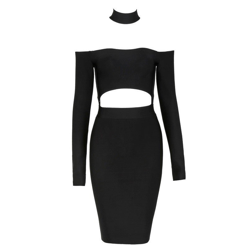 Off The Shoulder Halter Bandage Dress - Les Bijouteries Ladies Fashion, Online Fashion, Dresses, Dresses Online, New Trends, Party Dresses, Maxi Dresses, Club Dresses, Office Dresses, Street Style, Girls Dresses, Womens Fashion, Fashion USA, Hot Fashion, Sexy Dresses