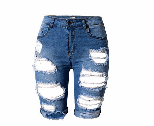Holy Days Ripped Capri Jeans - Les Bijouteries - 4