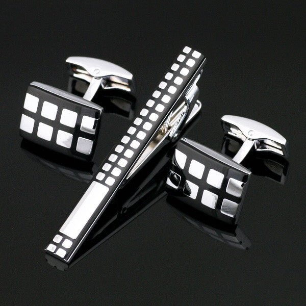 Stainless Steel Enamel Cufflinks and Tie Clip - Les Bijouteries Ladies Fashion, Online Fashion, Dresses, Dresses Online, New Trends, Party Dresses, Maxi Dresses, Club Dresses, Office Dresses, Street Style, Girls Dresses, Womens Fashion, Fashion USA, Hot Fashion, Sexy Dresses - 1