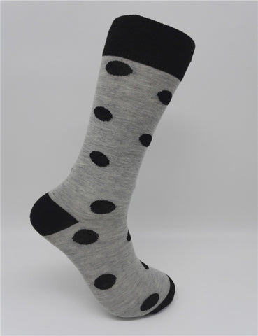 Large Dot Combed Cotton Socks
