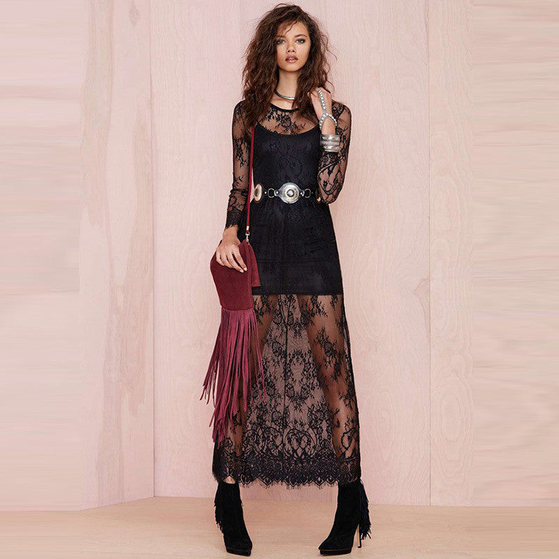 Sheer Obession Exsotic Maxi Dress Vintage Lace, Ladies Fashion, Online Fashion, Dresses, Dresses Online, New Trends, Party Dresses, Maxi Dresses, Club Dresses, Office Dresses, Street Style, Girls Dresses - Les Bijouteries