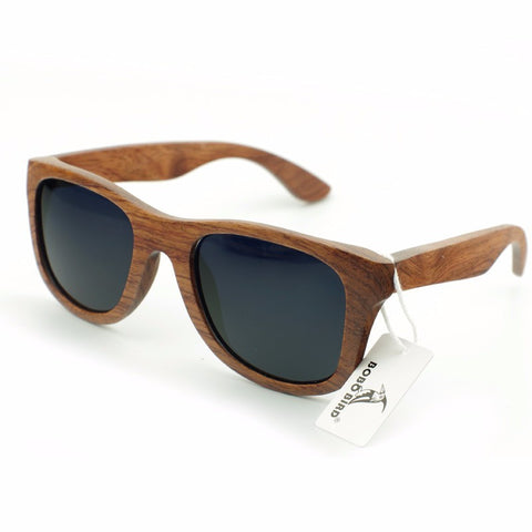 Mens Retro Wood Sunglasses