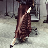 Pleated Ankle-Length  A-line Skirt - Les Bijouteries Ladies Fashion, Online Fashion, Dresses, Dresses Online, New Trends, Party Dresses, Maxi Dresses, Club Dresses, Office Dresses, Street Style, Girls Dresses, Womens Fashion, Fashion USA, Hot Fashion, Sexy Dresses - 1