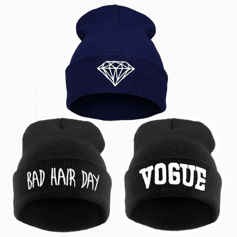 VOGUE Diamond Bad Hair Day Beanies