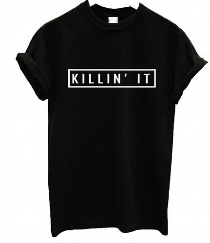 KILLIN IT Cotton T-Shirt - Les Bijouteries