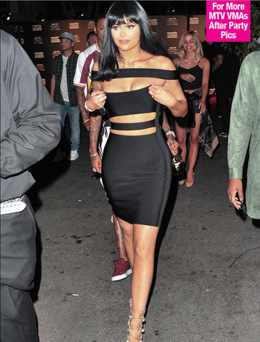 Celebrity Off The Shoulder Cut Out Bandage Dress