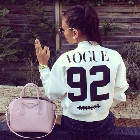 VOGUE 92 Black and White Short Jacket