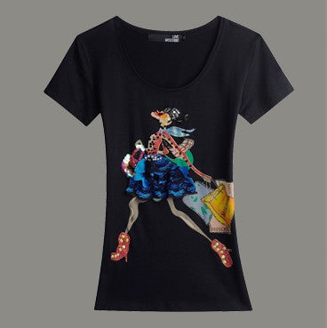 Shopping Spree Short Sleeve Summer T-Shirt 5 Colors - Les Bijouteries, Ladies Fashion, Online Fashion, Dresses, Dresses Online, New Trends, Party Dresses, Maxi Dresses, Club Dresses, Office Dresses, Street Style, Girls Dresses