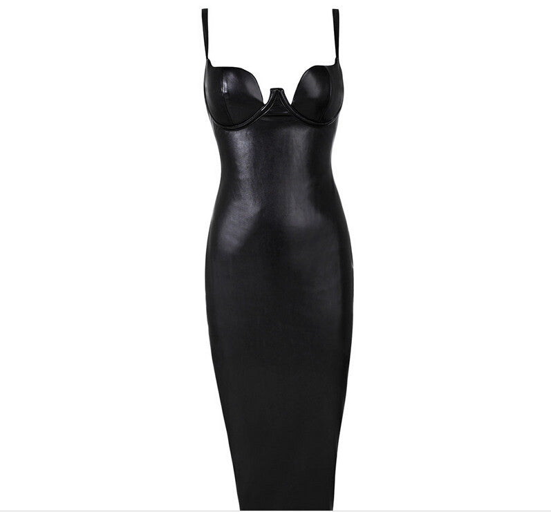Hot Faux Leather BUSTIER PENCIL Celebrity Inspired - Les Bijouteries - 6