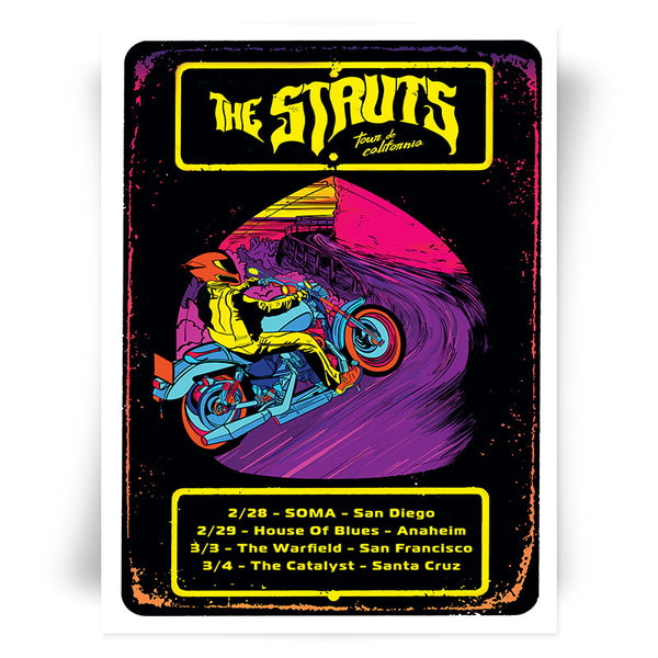 Tour de California Tour Poster - SIGNED