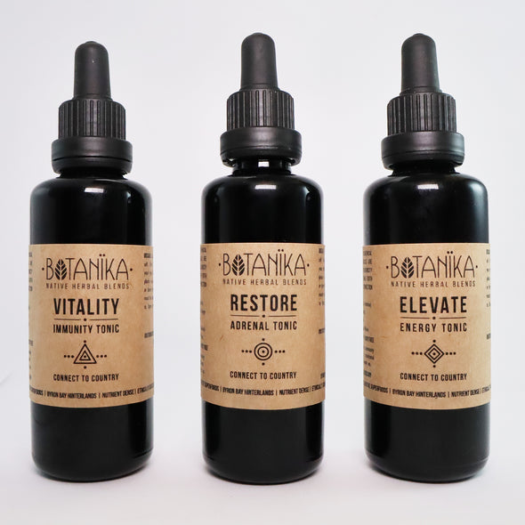 Gift Package 3 x Tonics - 50ml + Smudge stick | Botanika Herbals