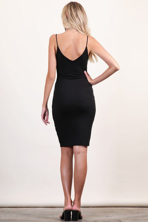 Fitted V-Neck Cami Dress