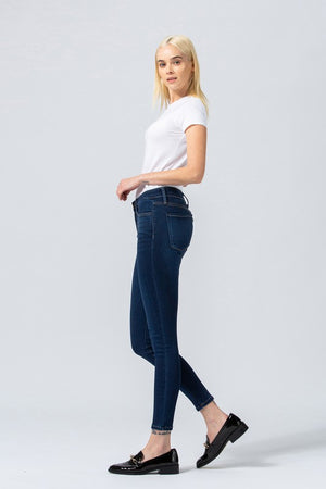 Blush Boutique - Mid-Rise Ankle Skinny