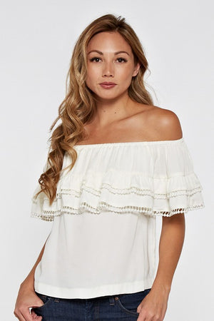 Blush Boutique - Off Shoulder Ruffle Top 1