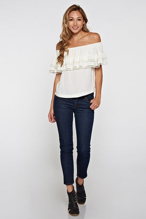 Blush Boutique - Off Shoulder Ruffle Top