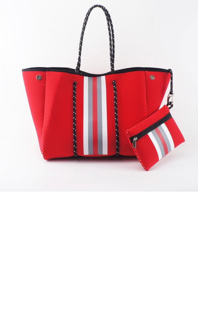 Red Fancy Neoprene Tote