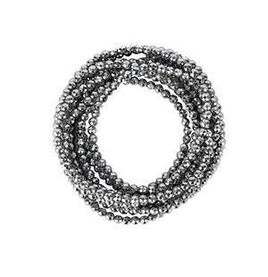 A Marie Million Dollar Wrap - Bright Silver Hematite