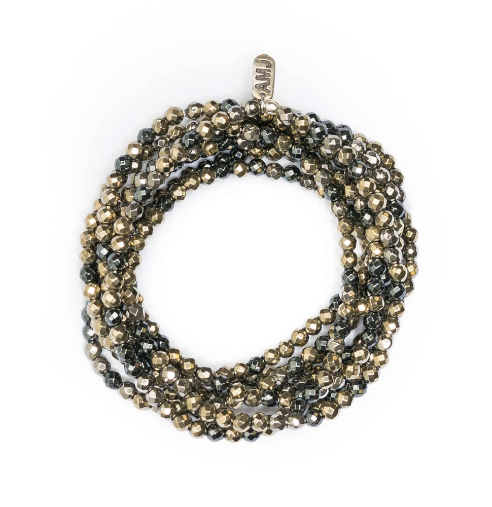 A Marie Million Dollar Wrap Multi - Hematite