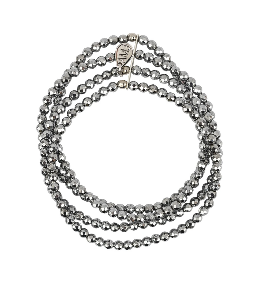 A Marie Pixie Bracelet in Bright Silver Hematite