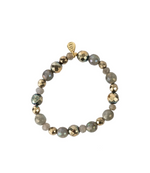 A Marie Stretchy Multi Colored Bracelet - Mystic Labradorite & Mermaid Hematite
