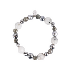 A Marie Stretchy Multi Colored  Bracelet - White Moonstone & Labradorite