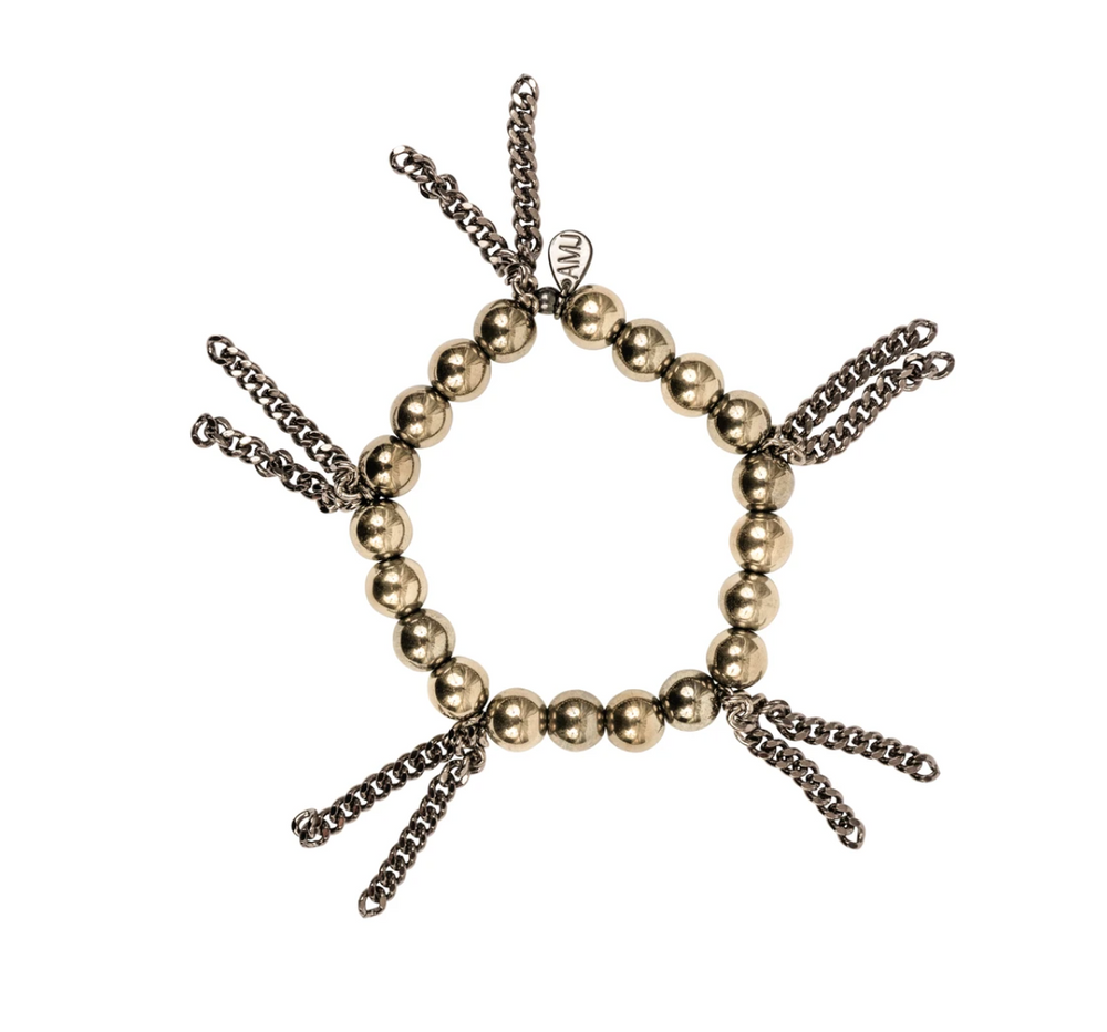 A Marie Cha Cha Metallic Bracelet - Pewter Hematite Smooth