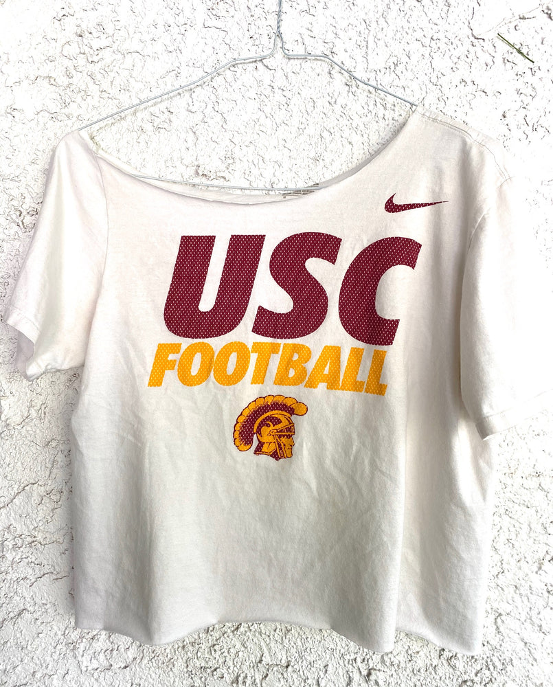 USC Wide Neck Cropped Tee