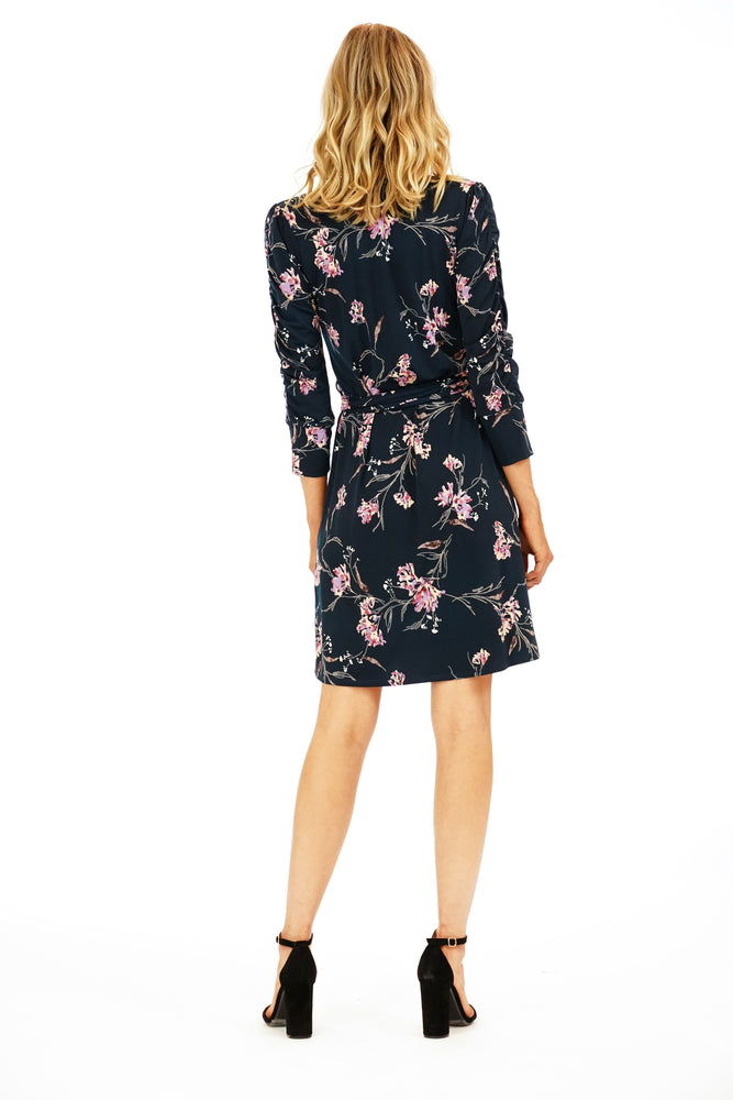 Veronica M Floral Gingham Wrap Dress