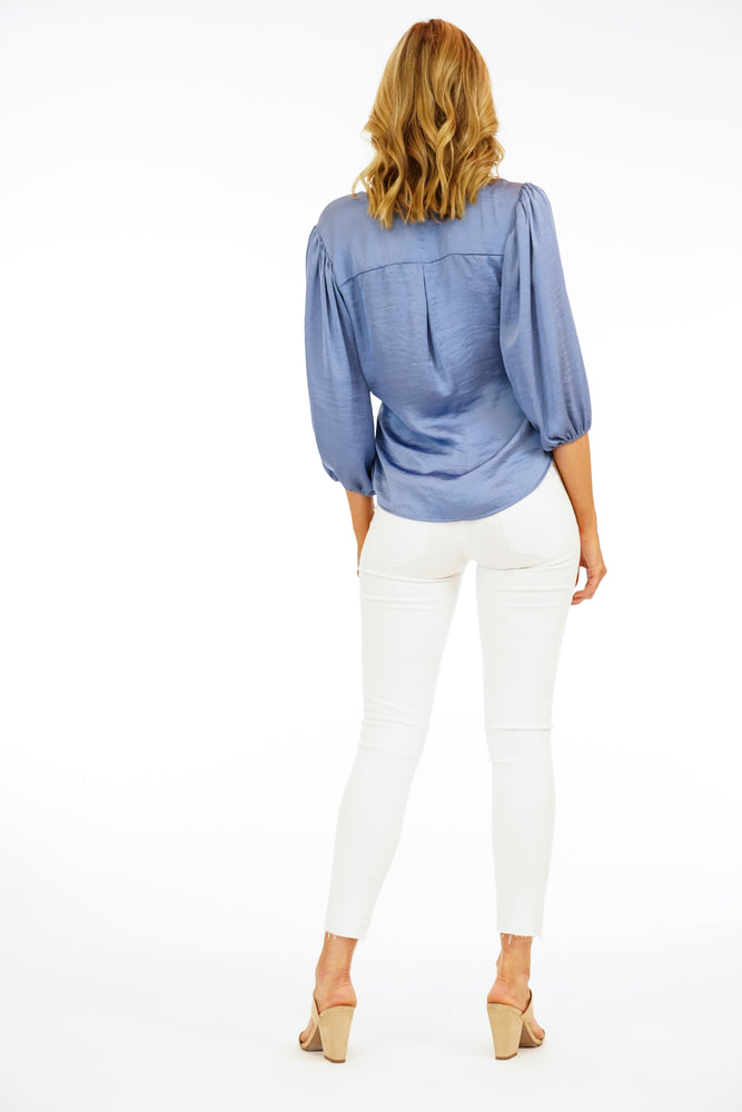 Veronica M Sheek Wrap Longsleeve Top