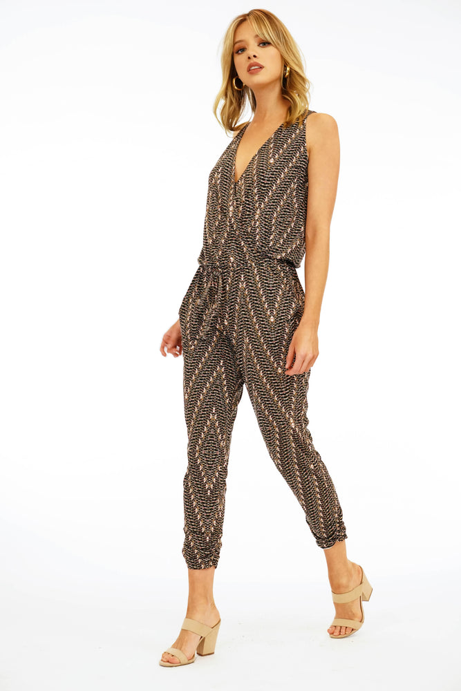 Veronica M V-Neck Jogger Jumpsuit