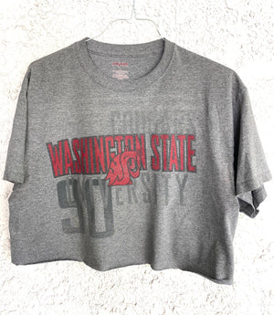 Washington State University Grey Cropped Tee