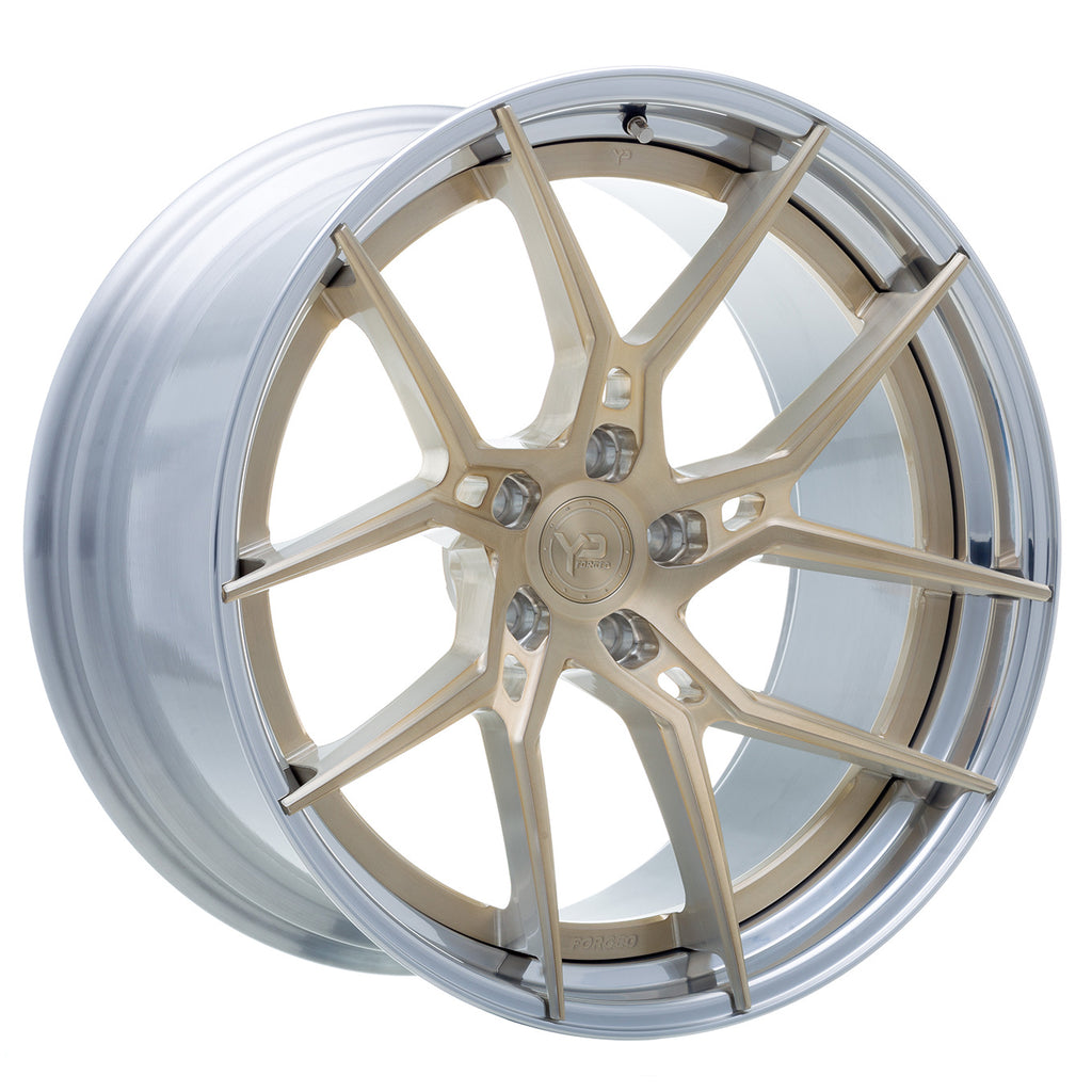 YIDO PERFORMANCE WHEELS | YP 6.2 FORGED | ROYAL GOLD/POLISHED LIP - Boden Visuals