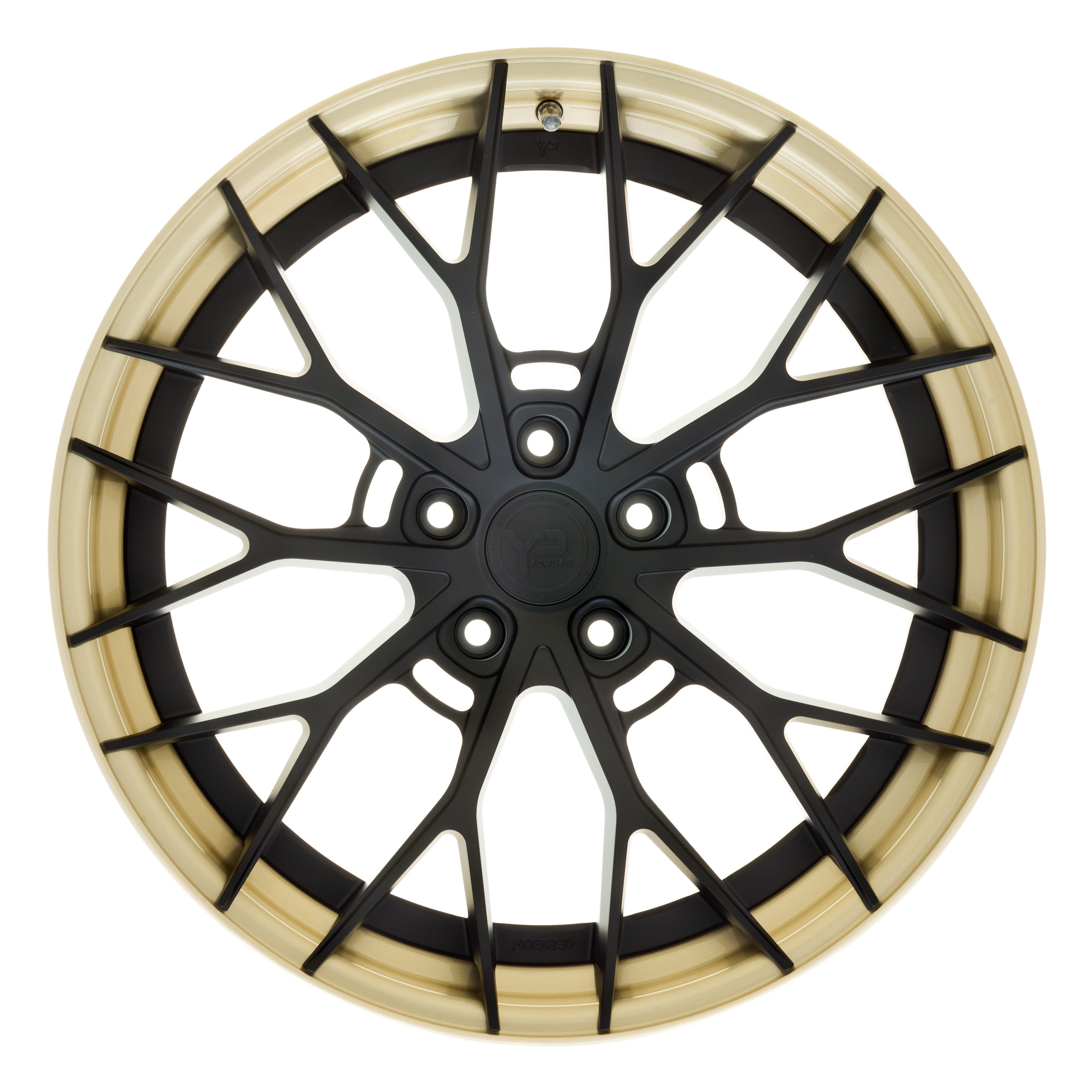 YIDO PERFORMANCE WHEELS | YP 8.2 FORGED | MATTE BLACK/BRUSHED GOLD - Boden Visuals