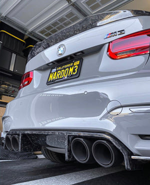 Mode Carbon F80 M4 STYLE HIGH KICK SPOILER FORGED CARBON BMW M3 F80 - Boden Visuals