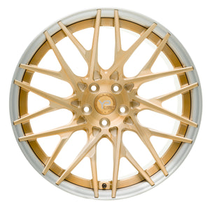 YIDO PERFORMANCE WHEELS | YP 11.2 FORGED | BRUSHED GOLD|BRUSHED LIP - Boden Visuals