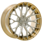 YIDO PERFORMANCE WHEELS | YP 8.2 FORGED | BRUSHED/BRUSHED GOLD LIP - Boden Visuals