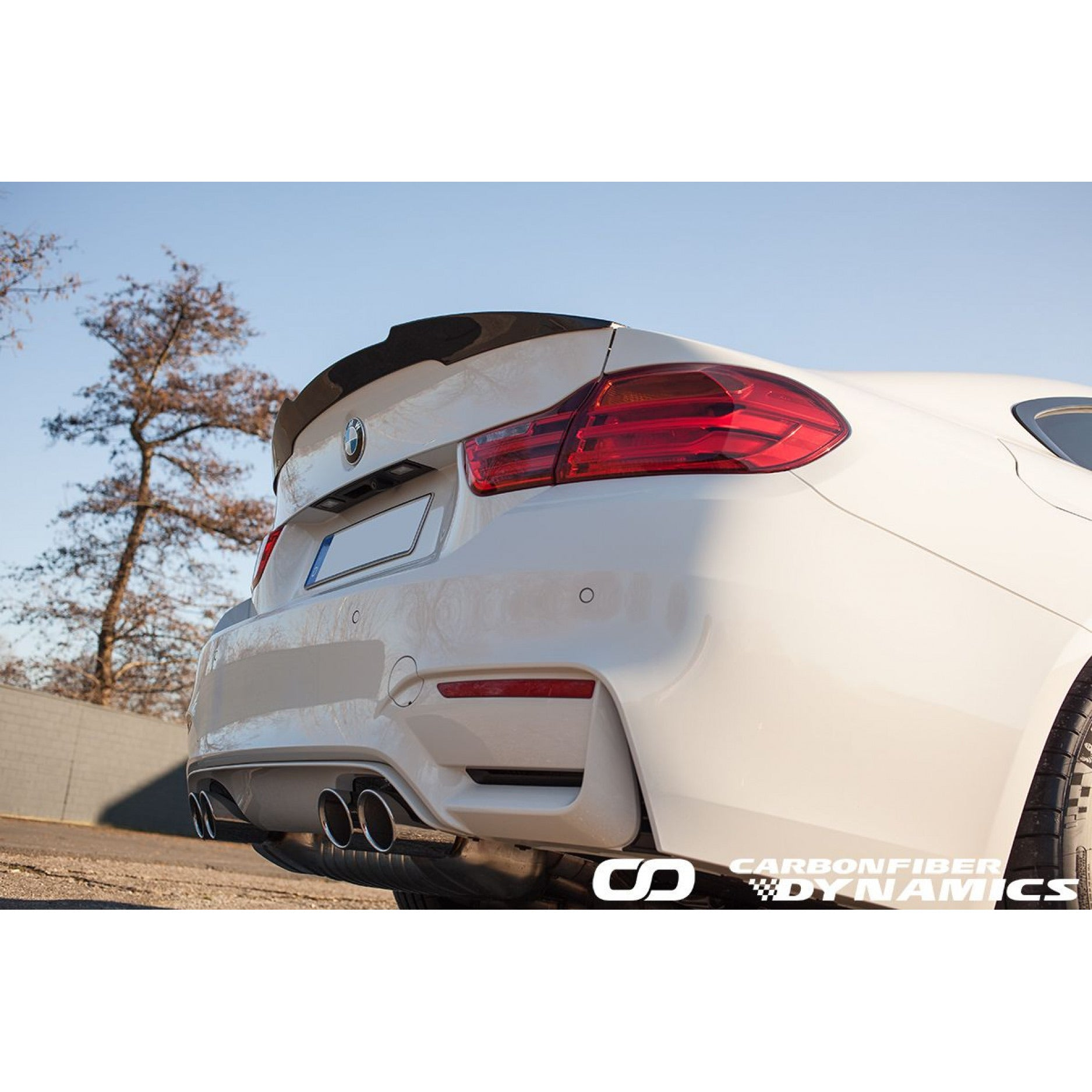 Boca Carbon Spoiler High Kick für BMW 4er F82 M4 - Boden Visuals