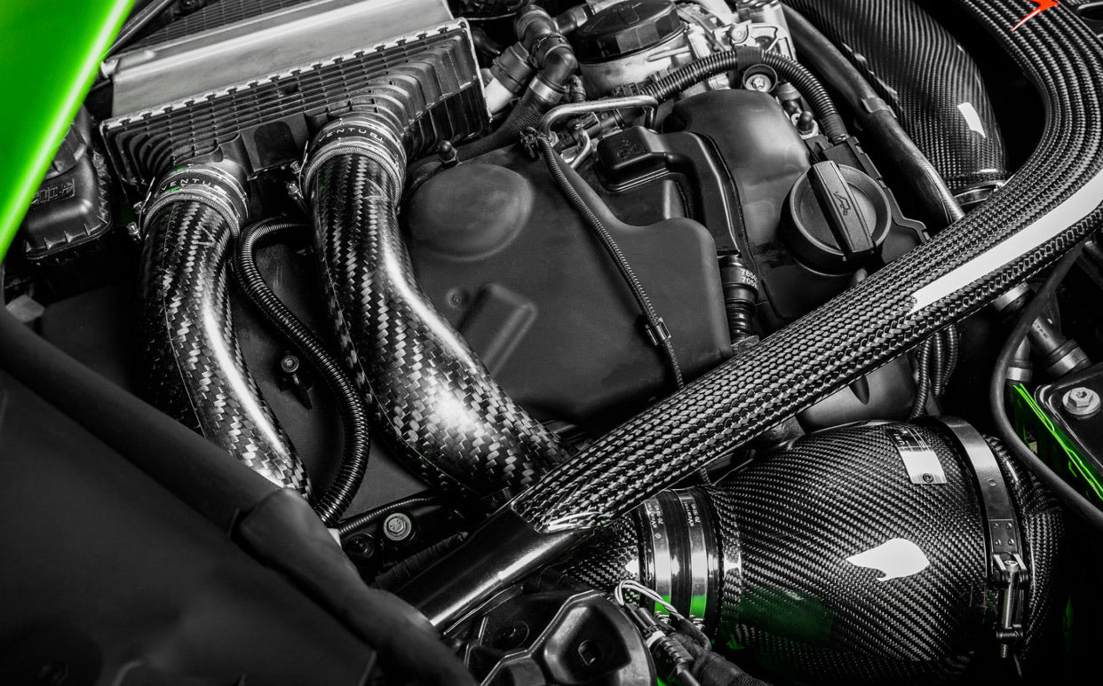 Eventuri Carbon Chargepipes für BMW S55 F8X M3/M4 | F87 M2 Competition - Boden Visuals