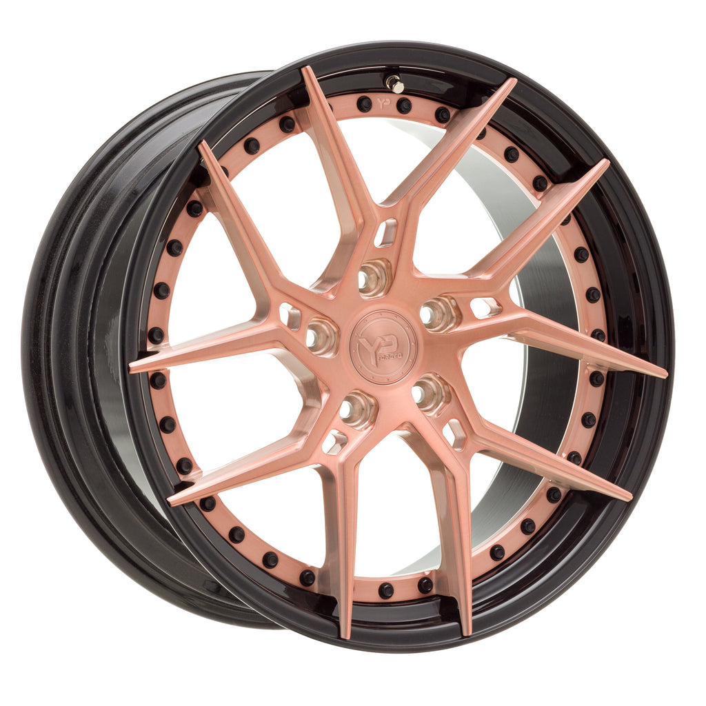 YIDO PERFORMANCE WHEELS | YP 6.2 FORGED | ROSE GOLD/GLOSS BLACK LIP - Boden Visuals